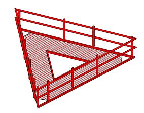 SOPORTE TIPO AVION 3D model