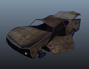 3D asset Wreck Car