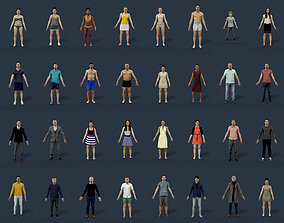 32x MEGA RIGGED SCANNED PEOPLE 3D
