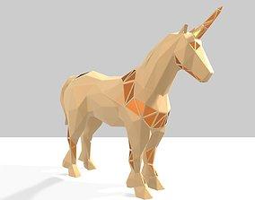 3D printable model Polygonal Unicorn Parametric