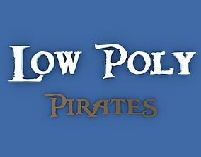 3D asset Low Poly Pirates