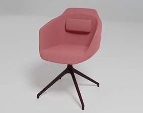 ULTRA - Trestle-based fabric chair with armrests - 3D