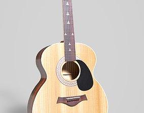 3D asset realtime Acoustic Guitar