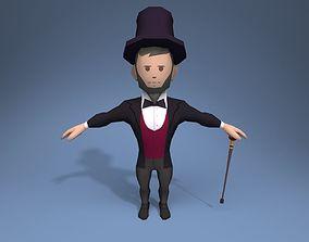 3D model Gentleman