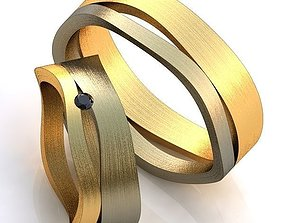 3D print model Gold Metal Rings 405