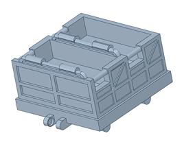 3D printable model roller coaster vehicle