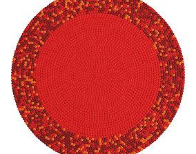 Round carpet of colored balls 3D model
