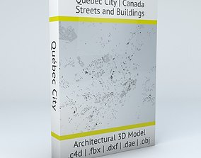 3D model Quebec City Streets and Buildings