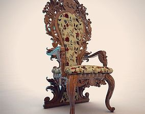 carved chair 3D print model