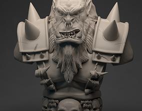 3D printable model ork bust