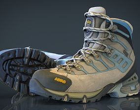 3D asset Hiking Boots