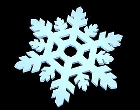3D asset Low poly snowflake