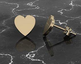 Jewelry Earring Heart Shape 3D printable model