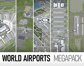 Top World Airports 3D model cityscape