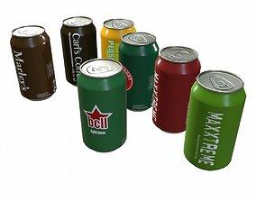 Beverage Cans 3D asset