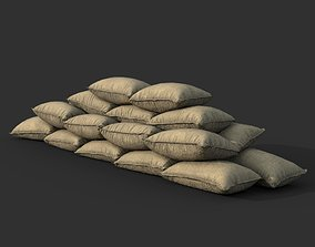 Low poly Sandbag 03 3D asset