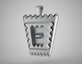 Serrated Necklace 3D print model