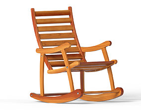 3D Rocking chair lounge