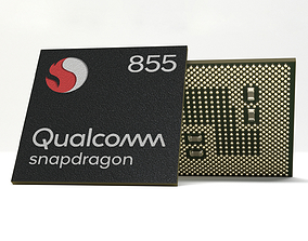 3D model Photorealistic Mobile Chip - Snapdragon 855