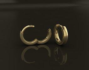 3D printable model Earring Hoop SMALL SIZE 7mm Inside