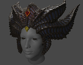 Diablo 4 Lilith Horns cosplay 3d model stl for