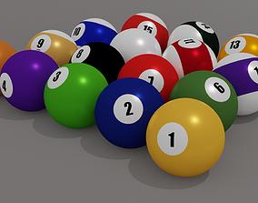3D asset 8ball Pool Balls