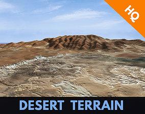 3D asset Desert Hills Surface Terrain Landscape 2