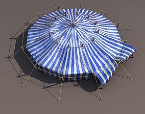 Blue Circus Tent 3D asset