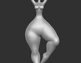 Modern sculpture of a lady 6 3D printable model