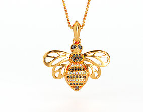 3D printable model beautifull gold bee pendant with
