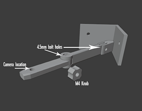 Corner webcam mount 3D printable model