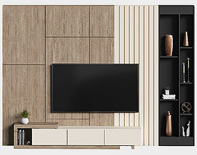 modern tv wall 11 architecture 3D model