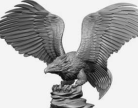 0124 Eagle Bust Full Model Ready For 3D Print