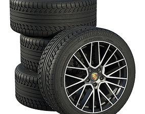 european 3D model Porsche wheels