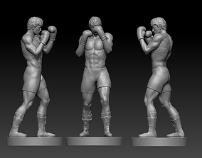 ROCKY BALBOA boxer man fighter pugger 3D print model 2