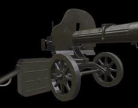 3D asset Soviet Maxim machine gun model 1941