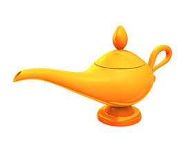oil Golden Lamp 3D
