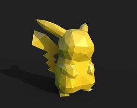 3D printable model Pikachu Low Poly geometric-shape