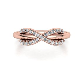 3D printable model Tiffany infinity ring with diamonds