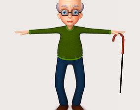 3D model Cartoon Old Man old