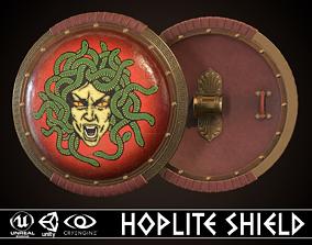 3D asset VR / AR ready Hoplite Shield Gorgon 3