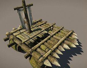Wooden Raft model VR / AR ready
