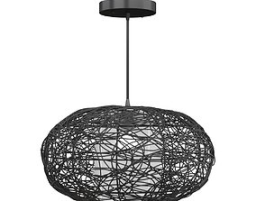 Accento lighting rattan Lamp 3D model mapping