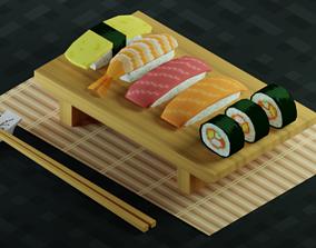Pixel Sushi 3D asset