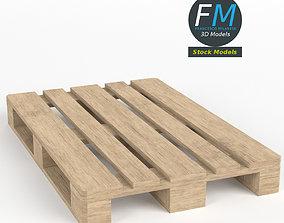 3D model Wooden Euro Pallet Skid PBR UV textured