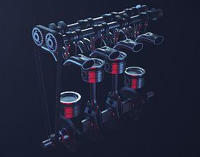 3D model animated Motor