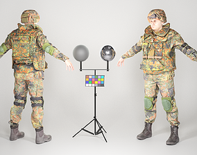 3D asset Fully equipped soldier in Bundeswehr Uniform 2