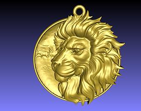 Lion pendant lion 3D print model