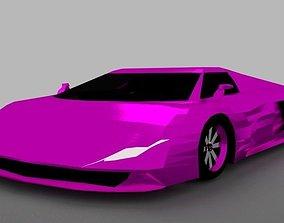 Supercar J1 Purple 3D asset