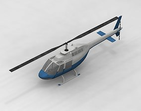 Helicopter 3D model airport